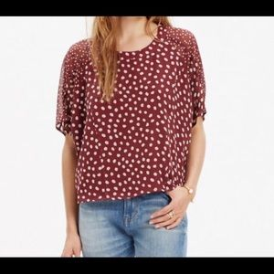 Madewell Silk Cropped Top EUC Size Large